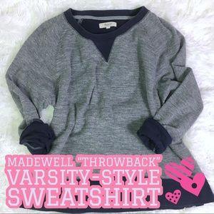 Madewell Throwback Varsity-Style Sweatshirt Medium